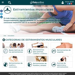 Artículos, vídeos e infografías de Estiramientos musculares