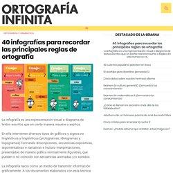 40 infografías para recordar las principales reglas de ortografía