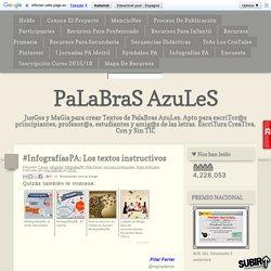 #InfografíasPA: Los textos instructivos