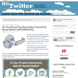 Do You Reveal Too Much About Yourself On Social Media? [INFOGRAPHIC]