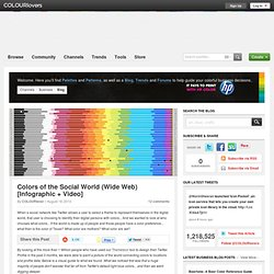 Business Blog / Colors of the Social World (Wide Web) [Infographic + Video] by COLOURlovers