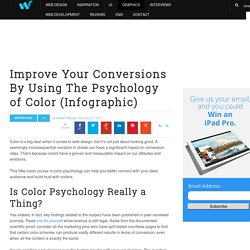 (Infographic) Improve Your Conversions By Using The Psychology of Color