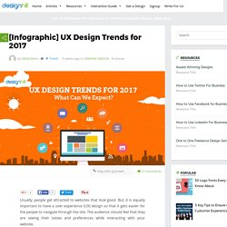 [Infographic] UX Design Trends for 2017 – Designhill Blog