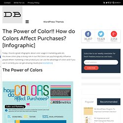 The Power of Color!! How do Colors Affect Purchases?[Infographic] | DesignBeep