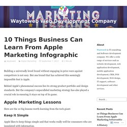 10 Things Business Can Learn From Apple Marketing Infographic – Waytoweb Web Development Company