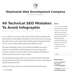 40 Technical SEO Mistakes To Avoid Infographic