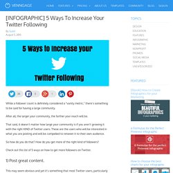 [INFOGRAPHIC] 5 Ways To Increase Your Twitter Following