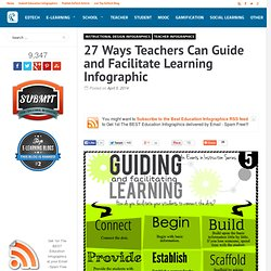 27 Ways Teachers Can Guide and Facilitate Learning Infographic