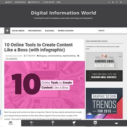 10 Online Tools to Create Content Like a Boss (with infographic)