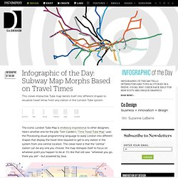 Infographic of the Day: Subway Map Morphs Based on Travel Times | Co.Design