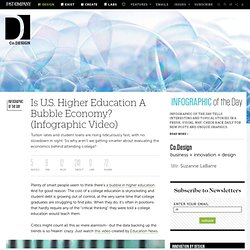 Is U.S. Higher Education A Bubble Economy? (Infographic Video)