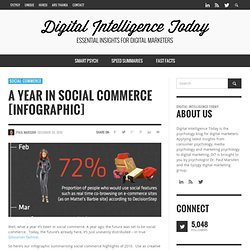 A Year in Social Commerce [infographic