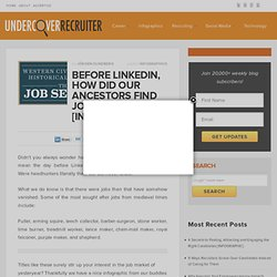 Before LinkedIn, How Exactly Did Our Ancestors Find Jobs?