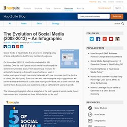 The Evolution of Social Media (2008-2013) ~ An Infographic