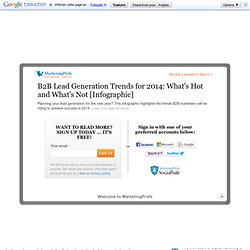 B2B Lead Generation Trends for 2014: What's Hot and What's Not [Infographic]