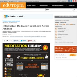 Infographic: Meditation in Schools Across America