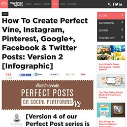 How To Create Perfect Vine, Instagram, Pinterest, Google+, Facebook & Twitter Posts: Version 2 [Infographic]