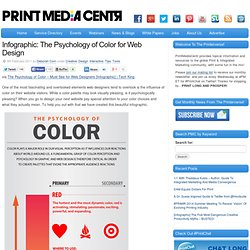 Infographic: The Psychology of Color for Web Design | PrintMediaCentr.com