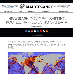 Infographic: Global shipping routes, mapped using GPS data
