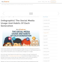 [Infographic] The Social Media Usage and Habits of Each Generation