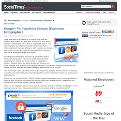 Google+ Vs. Facebook Privacy [Exclusive Infographic]