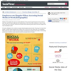 Employees are Happier When Accessing Social Media at Work [Infographic]