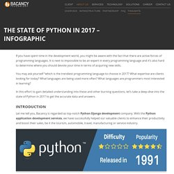 Infographic - The State Of Python In 2017
