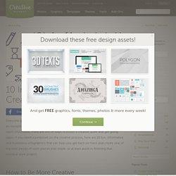 10 Infographics to Spark Creativity ~ Creative Market Blog