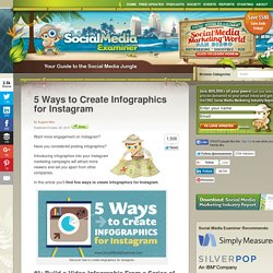 5 Ways to Create Infographics for Instagram Social Media Examiner