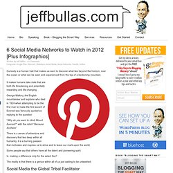 6 Social Media Networks to Watch in 2012 plus Infographics