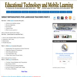Educational Technology and Mobile Learning: Great Infographics for Language T...