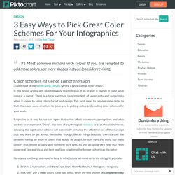 3 Easy Ways to Pick Great Color Schemes For Your Infographics