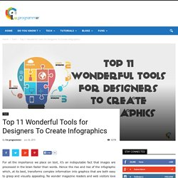 Top 11 Wonderful Tools for Designers To Create Infographics - I am programmer