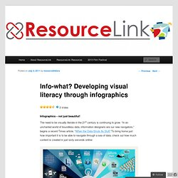 Info-what? Developing visual literacy through infographics