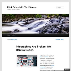 Infographics Are Broken. We Can Do Better. | Erick Schonfeld: TechStream