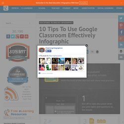 10 Tips To Use Google Classroom Effectively Infographic - e-Learning Infographicse-Learning Infographics