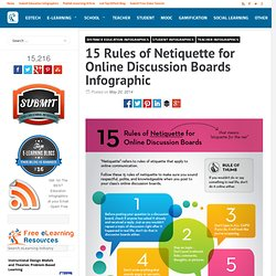 15 Rules of Netiquette for Online Discussion Boards Infographic