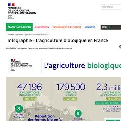 Infographie - L'agriculture biologique en France