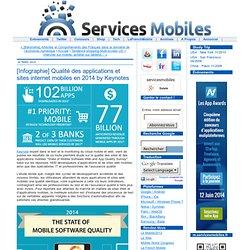 [Infographie] Qualité des applications et sites internet mobiles en 2014 by Keynotes