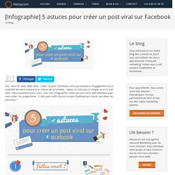 [Infographie] 5 astuces pour créer un post viral sur Facebook