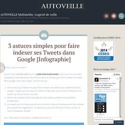 3 astuces simples pour faire indexer ses Tweets dans Google [Infographie]