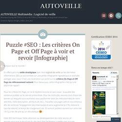 Puzzle #SEO : Les critères On Page et Off Page à voir et revoir [Infographie]