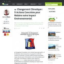 Infographie : 5 actions contre le changement climatique