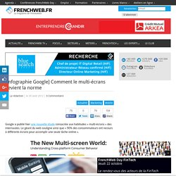 [Infographie Google] Comment le multi-écrans devient la norme