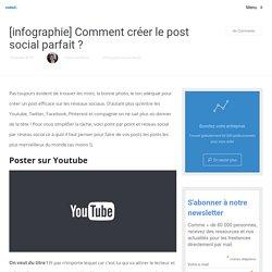 [infographie] Comment créer le post social parfait?