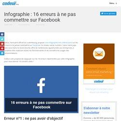 Infographie : 16 erreurs à ne pas commettre sur Facebook
