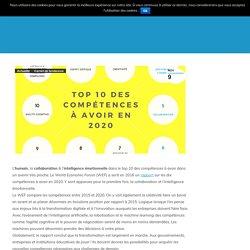 Infographie : Top 10 des compétences à avoir en 2020 - clubdescho.com