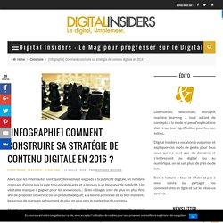 [Infographie] Comment construire sa stratégie de contenu digitale en 2016 ? - Digital Insiders - Le Mag pour progresser sur le Digital