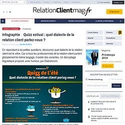 Infographie : Quizz estival : quel dialecte de la relation client parlez-vous ?
