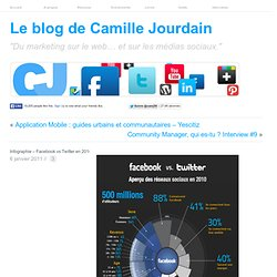 Infographie ? Facebook vs Twitter en 2010 | LE MARKETING SUR LE WEB